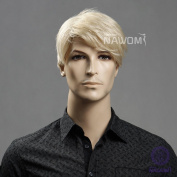High Quality New Fashion Handsome Western Men Short Blond Wigs Hair Businessmen