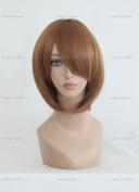 CosplayerWorld Cosplay Wigs 7-Ghost Kasutoru / Castor Wig For Convention Party Show Brown 32cm 140g WIG-013j6