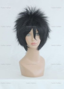 CosplayerWorld Cosplay Wigs BLEACH Hisagi Shuuhei Wig For Convention Party Show Black 35cm 140g WIG-007b3