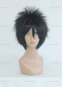 CosplayerWorld Cosplay Wigs BLEACH Hisagi Shuuhei Wig For Convention Party Show Black 35cm 140g WIG-007b3