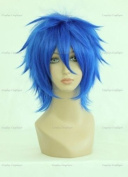 CosplayerWorld Cosplay Wigs Fairy Tail mistogai Wig For Convention Party Show Blue 35cm 140g WIG-023F2