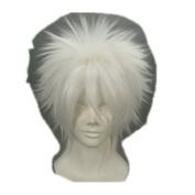Home Tutor Short White Straight Costume Wig Costume Wigs