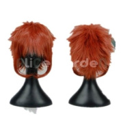 the King of Game Red Brown Short Straight Cosplay Wig Costume Wigs