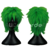 You And Me Fairy Tail Green Short Costume Wig Costume Wigs