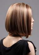 Cute Women's short Straight Light Brown Bob Bobe Fancy Dress Cosplay Costume Wig Party