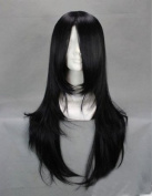 E-busienss Kunieda Aoi Kuchiki Byakuya Orochimaru Hyuuga Neji 65cm Black Medium Long Culy Anime Costume Cosplay Wig Free Shpping