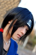 Fashion Itachi Long Straight Black Cosplay Wig Stiled Party Wig