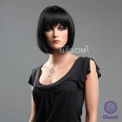 New Womens & girls Office Lady Fashion Bobo Short Straight Black Neat Bangs Hair Wig