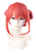 FENGSHANG Silver Soul Kagura Short Party Cosplay Wigs 33cm Orange
