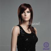 New Cute Fashion Womens Girl Straight Mid-length Reddish Brown Bown Hair Japan Kanekalon Wig