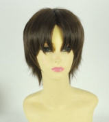 Attack on Titan Eren Jaeger Short hair Anime Party cosplay wig+ Wig Cap