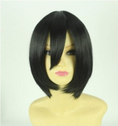 Attack on Titan Mikasa Ackerman Short hair Anime Party cosplay wig+ Wig Cap