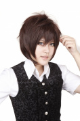 FENGSHANG Lolita Cosplay Short Wigs for Women 36cm Brown