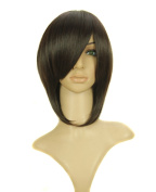 FENGSHANG Lolita Party Short Hair and Cosplay Wigs in Beauty Dark Brown 36cm