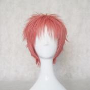 Mordor Ao No Exorcist Shima Renzou Short Pink Anime Cosplay Party Hair Full Wig MJ