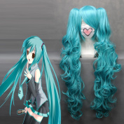 Free PP Charming Wave MIKU V Hatsune Miku Heat Resistant Fibre Anime Cosplay wig COS-045A