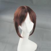 Mordor Attack on Titan Sasha Blouse Brown Ponytail Cosplay Costume Wig + Free Wig Cap MH