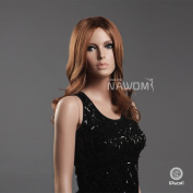 New Sexy Graceful Charming Female Fashion Long Curly Wavy Reddish Brown Hair Wig Party