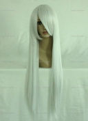 CosplayerWorld Cosplay Wigs angel sanctuary Rosiel Wig For Convention Party Show Sliver White 80cm 380g WIG-001D5