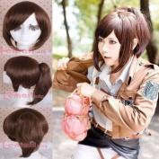 Shingeki No Kyojin Attack on Titan Sacha Blouse Brown Ponytail Cosplay Wig Cb62