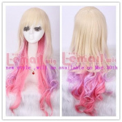 .70cm Long Zipper Multi-colour Curly Cosplay Wig Zy04