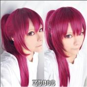 Free! Gou Matsuoka Long Purple Cosplay Wig clip ponytail