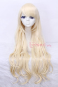 80cm Long Beige Wavy Sweet Cosplay Hair Women's Fashion Partywig Cw201a
