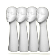4PCs A1Pacific 50cm STYROFOAM FOAM MANNEQUIN MANIKIN head wig display hat glasses