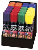 Fun World 9482ACE Fluorescent Hair Spray, 6 Colours, 60ml