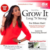 Long N Strong® 2-in1 ANTI-FRIZZ and HAIR GROWTH SERUM! Leave-in Texturizing Serum repairs hair while it helps it grow hair longer and stronger and relaxing frizzy hair For ALL Ethnic Hair Types!