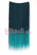 Straight Hairpiece Heat-resistant Fibre Extension Hair Clip in Extensions Pj19