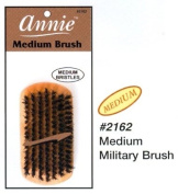 Annie Medium Military Natural Boar Bristle Brush #2162