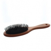Elegant Brushes Anti-Static Oval Cushion Pin Brush, Brown