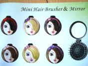 Mini Hair Brusher & Mirror