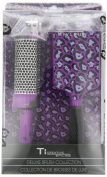 Ti Creative Styling Paddle Brush Set Purple Leopard
