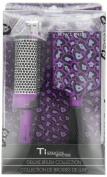 Ti Creative Styling Paddle Brush Set Purple Leopard