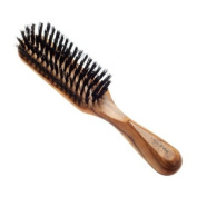 Hydrea London Olive Wood Rectangular Hair Brush With Pure Wild Boar Bristle