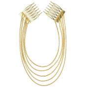 RHX New Fashion Women Chic Hair Cuff Pin Head Band 2 Combs Chains Tassels Boho Punk