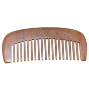 Wide Tooth Peach Wooden Comb