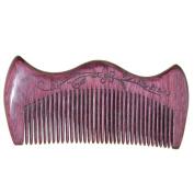 Natural Purple Heart Wooden Comb, Pocket Comb