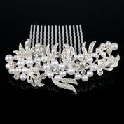 Wedding Bridal Side Comb with Rhinestone & Crystal #8882