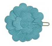 Camila Paris Slide Flower Turquoise Hair Clip 3.8cm ls