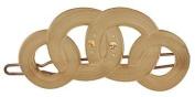 Camila Paris Slide Beige, Circles Hair Clip 5.7cm with. Crystals