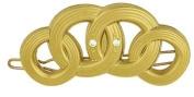 Camila Paris Slide Gold, Circles Hair Clip 5.7cm with. Crystals