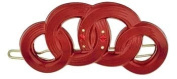 Camila Paris Slide Red, Circles Hair Clip 5.7cm with. Crystals