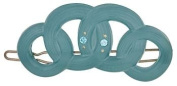 Camila Paris Slide Turquoise, Circles Hair Clip 5.7cm with. Crystals