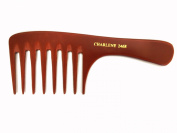 Large Designer Rake Heat-Resistant Bone Comb #2468