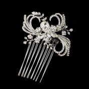 Delilah Antique Crystal & Rhinestone Ribbon Swirl Hair Side Wedding Bridal Occasion Comb
