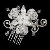 Samantha Crystal and Rhinestone Accenting Wedding Bridal Occasion Comb