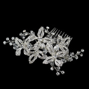 Diana Rhinestone & Crystal Bead Floral Hair Bridal Special Occasion Comb